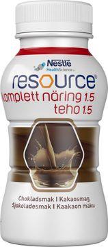 Resource Komplett Näring 1,5 drickfärdigt kosttillägg, choklad 4 x 200 milliliter