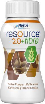 Resource 2,0 + fibre drickfärdigt, komplett kosttillägg, kaffe 4 x 200 milliliter