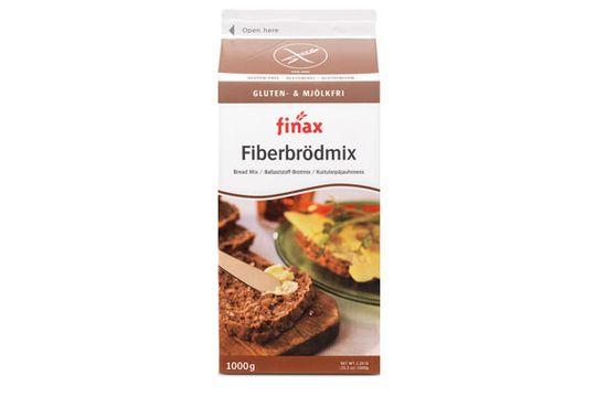 Finax brödmix, Glutenfri, Fiberbrödmix 1 kilogram