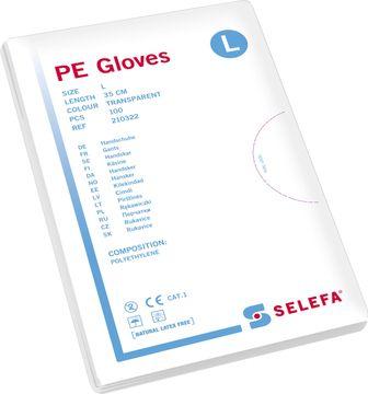 Selefa PE Gloves Large. Undersökningshandske. 100 st