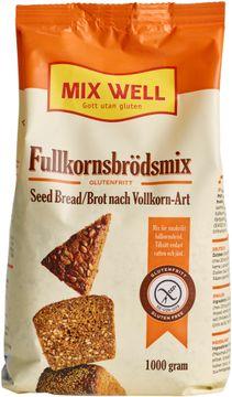 MixWell, glutenfritt brödmix, fullkornsbrödmix 1000 gram