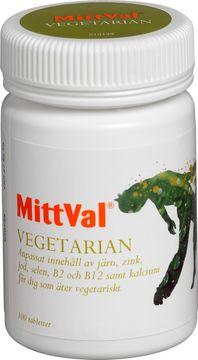 MittVal Vegetarian kosttillskott Tablett, 100 st
