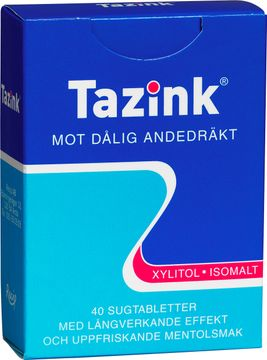 Tazin Sugtablett Mentolsmak Sugtablett, 40 st