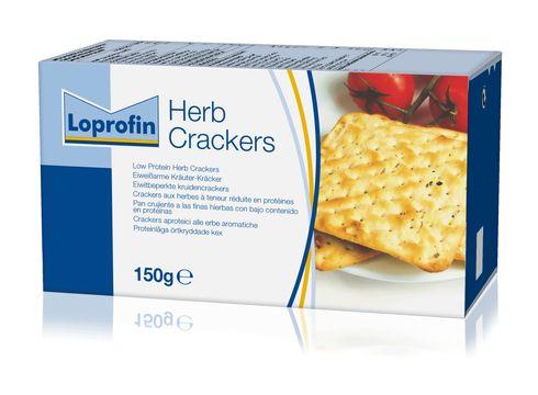 Loprofin Örtkryddade kex (herb crackers) lågproteinkex 150 gram