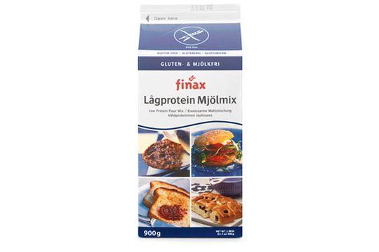 Finax glutenfri lågprotein mjölmix, glutenfri lågprotein mjölmix 900 gram