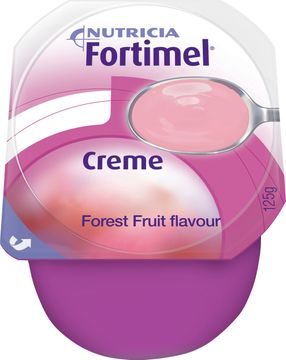 Fortimel Creme färdigt kosttillägg i krämform, skogsbär 4 x 125 gram
