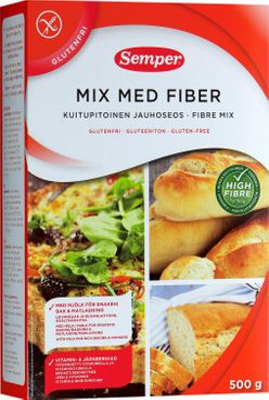 Semper Mix med fiber mjölmix 500 gram