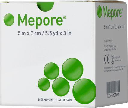 Mölnlycke Health Care Mepore Självhäftande förband 5 m x 7 cm. 1 st