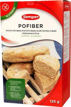 Pofiber finfördelade torkade fibrer av potatis, matlagningsfiber 125 gram