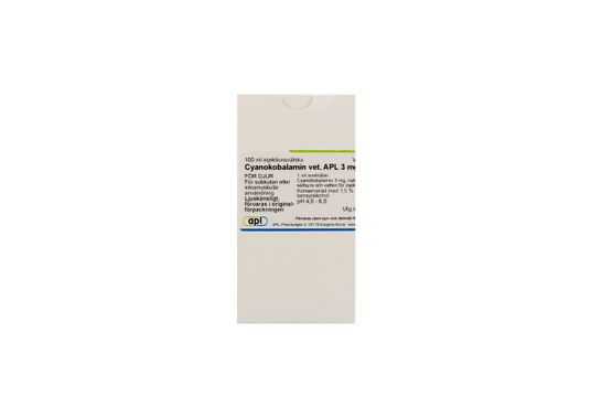 Cyanokobalamin vet. APL Injektionsvätska, lösning 3 mg/ml 100 milliliter
