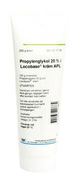 Propylenglykol i Locobase kräm APL Kräm 20 % 200 gram