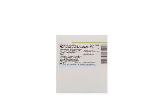 Natriumvätekarbonat APL Dentallösning 2 % 10 x 50 milliliter