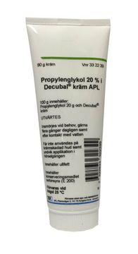 Propylenglykol i Decubal kräm APL Kräm 20 % 90 gram