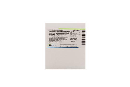 Natriumvätekarbonat APL Dentallösning 2 % 10 x 20 milliliter