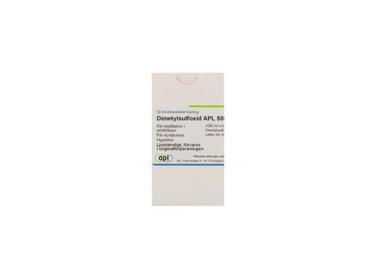 Dimetylsulfoxid APL Intravesikal lösning 500 mg/ml 50 milliliter