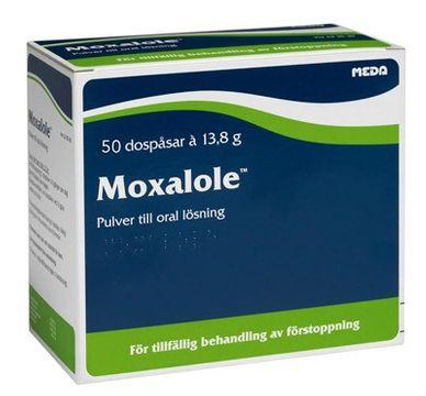 Moxalole Pulver till oral lösning i dospåse Makrogol, kaliumklorid, natriumbikarbonat, natriumklorid 50 styck