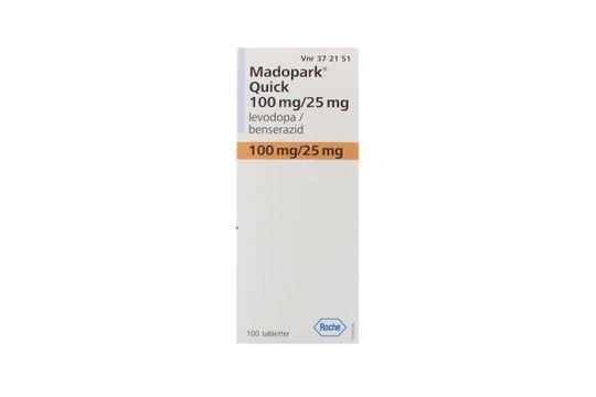 Madopark Quick Tablett 100 mg/25 mg Levodopa + benserazid 100 styck