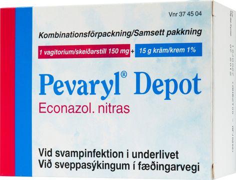 Pevaryl Depot 150 mg + 1% Ekonazolnitrat, kräm, 1 st