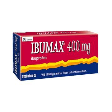 Ibumax 400 mg Ibuprofen, filmdragerad tablett, 30 st