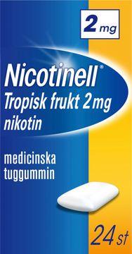 Nicotinell Tropisk frukt Medicinskt nikotintuggummi, 2 mg, 24 st