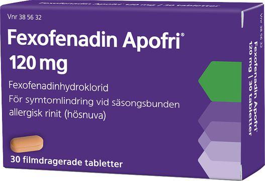 Fexofenadin Apofri 120 mg Fexofenadin, filmdragerad tablett, 30 st