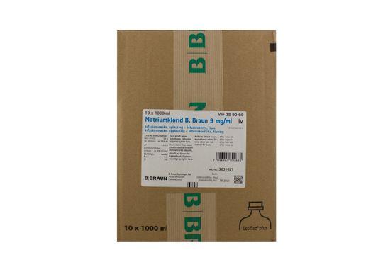 Natriumklorid B. Braun Infusionsvätska, lösning 9 mg/ml Natriumklorid 10 x 1000 milliliter