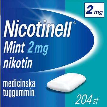 Nicotinell Mint 2 mg Nikotin, medicinskt tuggummi, 204 st
