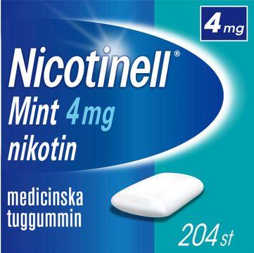 Nicotinell Mint 4 mg Nikotin, medicinskt tuggummi, 204 st
