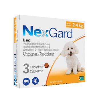 NEXGARD för hund 2-4 kg Tuggtablett 11,3 mg 3 tablett(er)