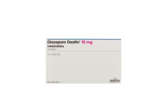 Diazepam Desitin Rektallösning 10 mg Diazepam 5 x 2,5 milliliter