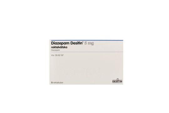 Diazepam Desitin Rektallösning 5 mg Diazepam 5 x 2,5 milliliter
