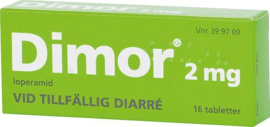 Dimor 2 mg Loperamid, filmdragerad tablett, 16 st