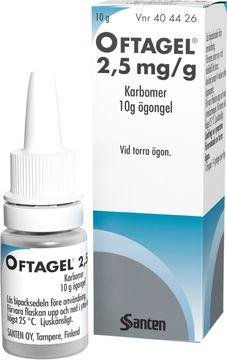 Oftagel 2,5 mg/g Karbomer, ögongel, 10 g