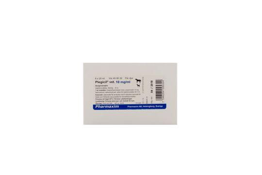 Plegicil vet. Injektionsvätska, lösning 10 mg/ml 6 x 20 milliliter
