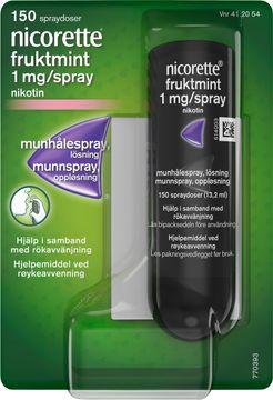 Nicorette Fruktmint Lösning 1 mg/spray Munhålespray, 150 doser