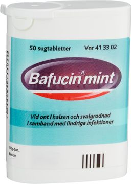 Bafucin Mint Sugtablett, 50 st