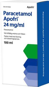 Paracetamol Apofri 24 mg/ml Paracetamol, oral lösning, 24 mg