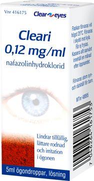 Cleari 0,12 mg/ml Nafazolin, ögondroppar, lösning, 5 ml