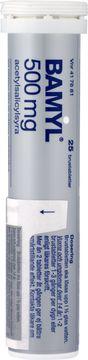Bamyl® Brustablett 500 mg Acetylsalicylsyra Brustablett, 25 styck