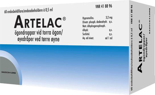 Artelac Hypromellos, ögondroppar, 60 x 0,5 ml