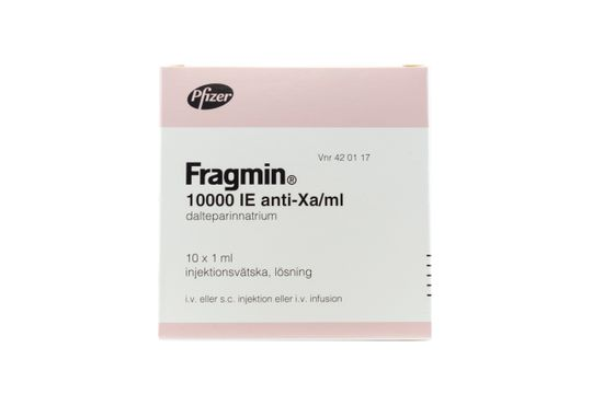 Fragmin Injektionsvätska, lösning 10000 IE/ml Dalteparin 10 x 1 milliliter