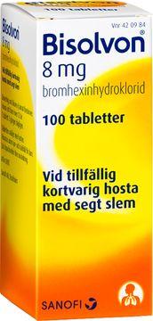 Bisolvon Mot slemhosta. Tablett 8 mg 100 tablett(er)