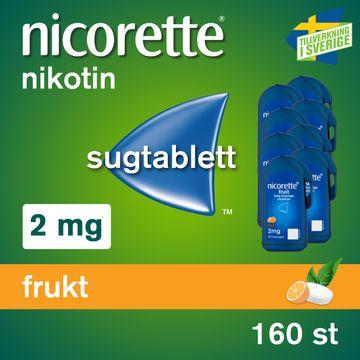 Nicorette Frukt 2 mg Nikotin, sugtablett, 8x20 st