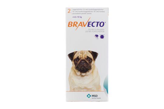Bravecto för små hundar (>4,5-10 kg) Tuggtablett 250 mg 2 tablett(er)