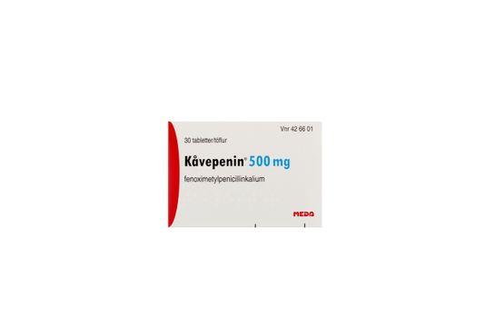 Kåvepenin Filmdragerad tablett 500 mg Fenoximetylpenicillin 30 styck