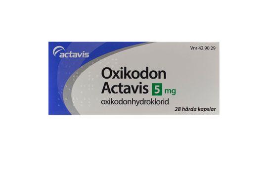 Oxikodon Actavis Kapsel, hård 5 mg Oxikodon 28 kapsel/kapslar