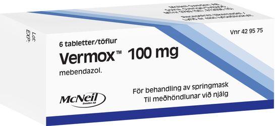 Vermox Tabletter Tabletter, 6 st