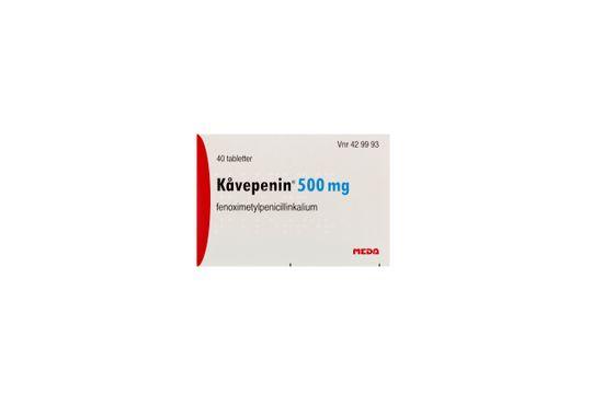 Kåvepenin Filmdragerad tablett 500 mg Fenoximetylpenicillin 40 styck