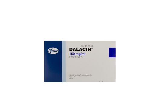 Dalacin Injektionsvätska, lösning 150 mg/ml Klindamycin 10 x 4 milliliter