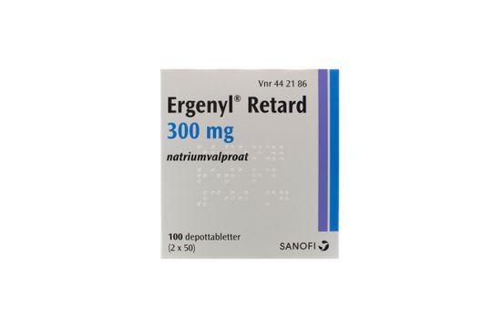 Ergenyl Retard Depottablett 300 mg Valproinsyra 2 x 50 styck